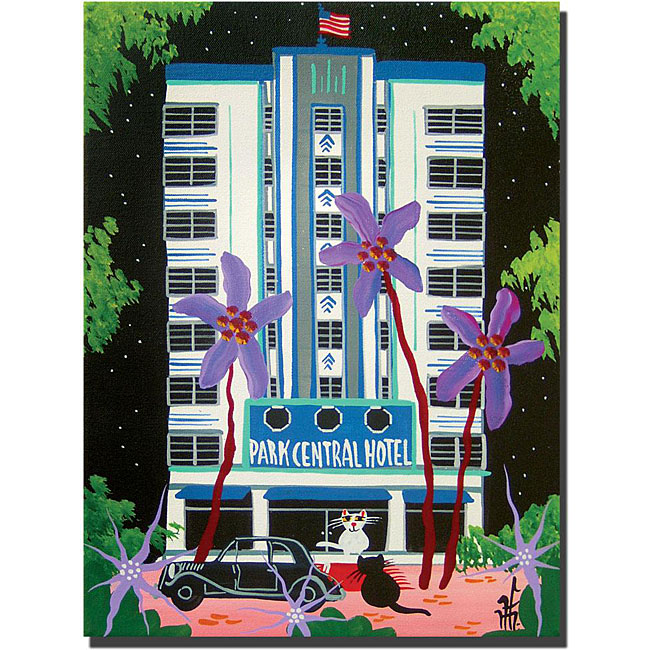 Herbet Hofer 'Park Central' Canvas Art