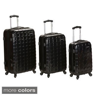 Rockland Elite Designer 3-piece Hardside Spinner Luggage Set