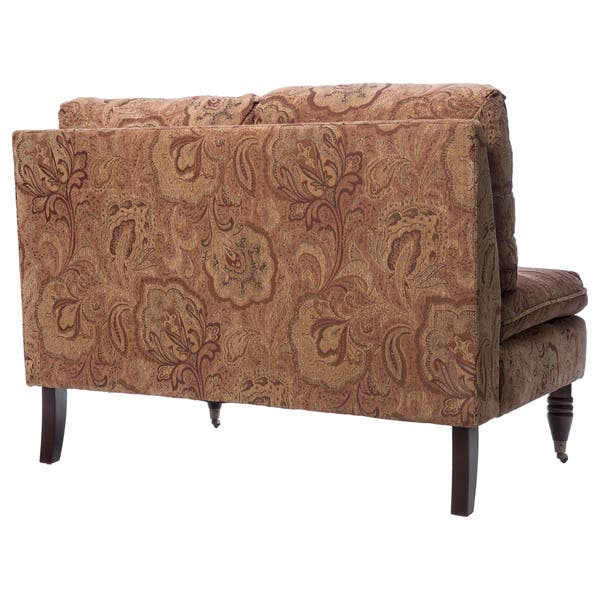 Amazing Shop Bordeaux Nutmeg Paisley Loveseat Free Shipping Today Alphanode Cool Chair Designs And Ideas Alphanodeonline
