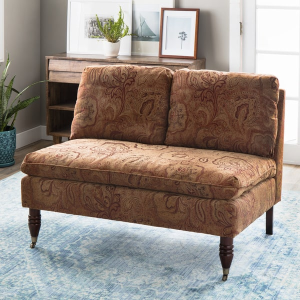Prime Shop Bordeaux Nutmeg Paisley Loveseat Free Shipping Today Alphanode Cool Chair Designs And Ideas Alphanodeonline