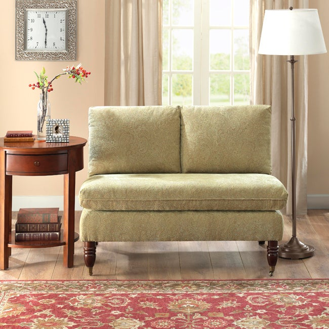 Shop Bordeaux Mint Green Paisley Loveseat Free Shipping