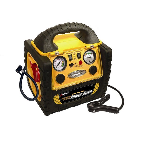 Wagan 400 watt battery powered generator with jump starter for Can i use motor oil in my air compressor