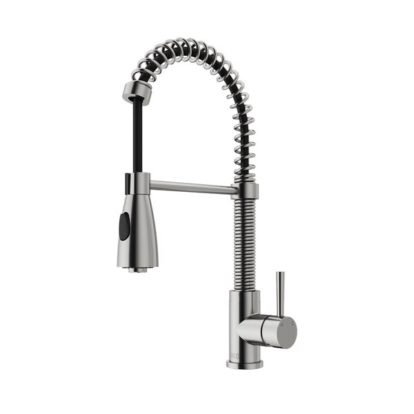 VIGO Brant Stainless Steel Pull Down Spray Kitchen Faucet