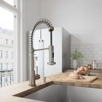 Vigo Edison Stainless Steel Brass Pull-down Spray Kitchen Faucet