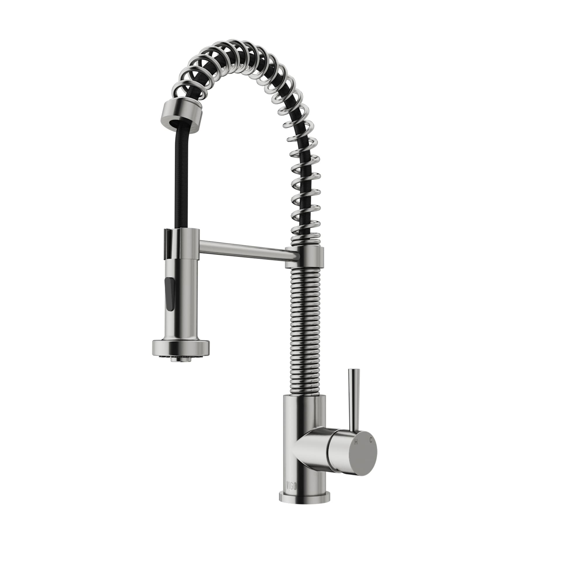 Pull-Down Spray Kitchen Faucet Retractable Spout Stainless Steel ...