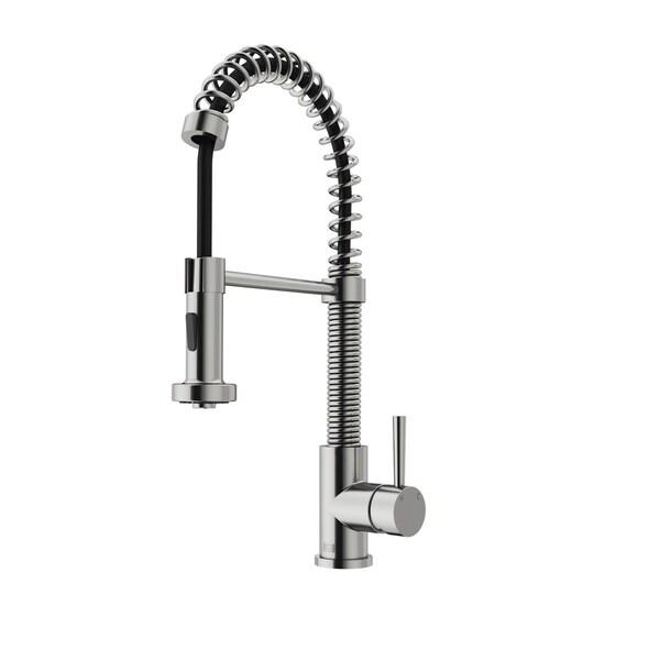 Vigo Edison Stainless Steel Brass Pull-down Spray Kitchen Faucet