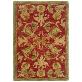 Safavieh Handmade Anatolia Oriental Traditional Burgundy Hand-spun Wool Rug (2' x 3')