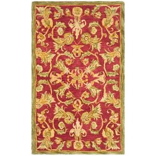 Safavieh Handmade Anatolia Oriental Traditional Burgundy Hand-spun Wool Rug (3' x 5')