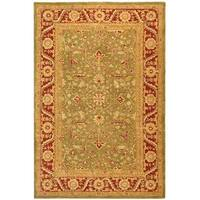 Safavieh Handmade Anatolia Oriental Green/ Red Hand-spun Wool Rug - 9' x 12'