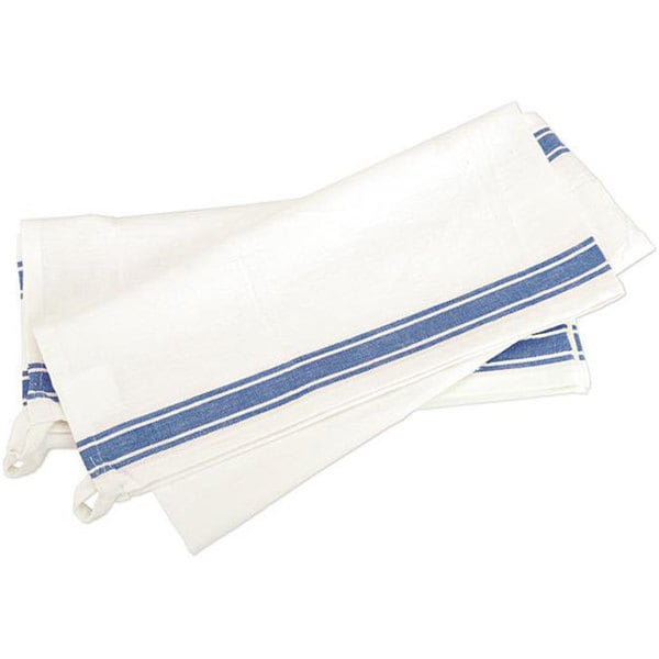 Aunt Martha Vintage Blue Stripe Cotton Towels (Pack of 3)