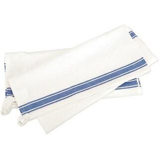 Aunt Martha Vintage Blue Stripe Cotton Towels (Pack of 3)