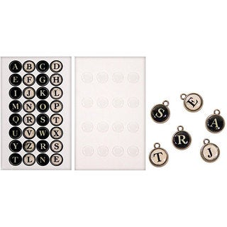 Tim Holtz Idea-Ology Typewriter Keys Stickers (Package of 16)
