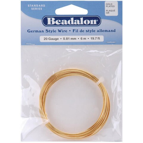 Beadalon 20-gauge Gold Round Wire