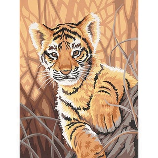 Dimensions Learn To Paint Tiger Cub Paint by Number Kit