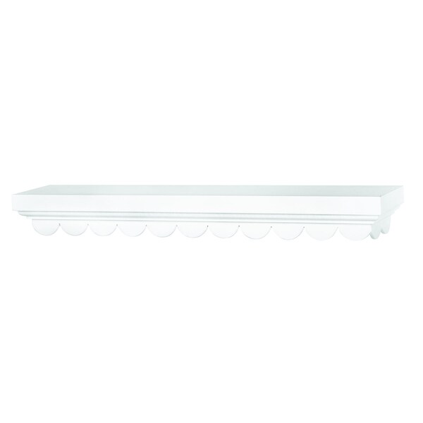Fashion Furnishings White Scalloped Shelf