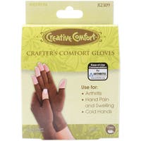 Dritz Creative Comfort Crafter's Brown Lycra/Cotton Medium Comfort Gloves