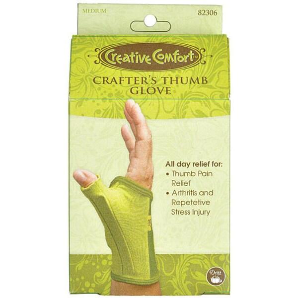 Dritz Creative Crafter's Comfort Medium Thumb Gloves