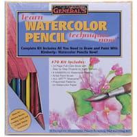 General's 6-piece Learn Watercolor Pencil Techniques Now! Kit