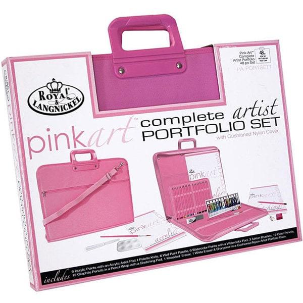 Pink Art Complete Artist Portfolio Set