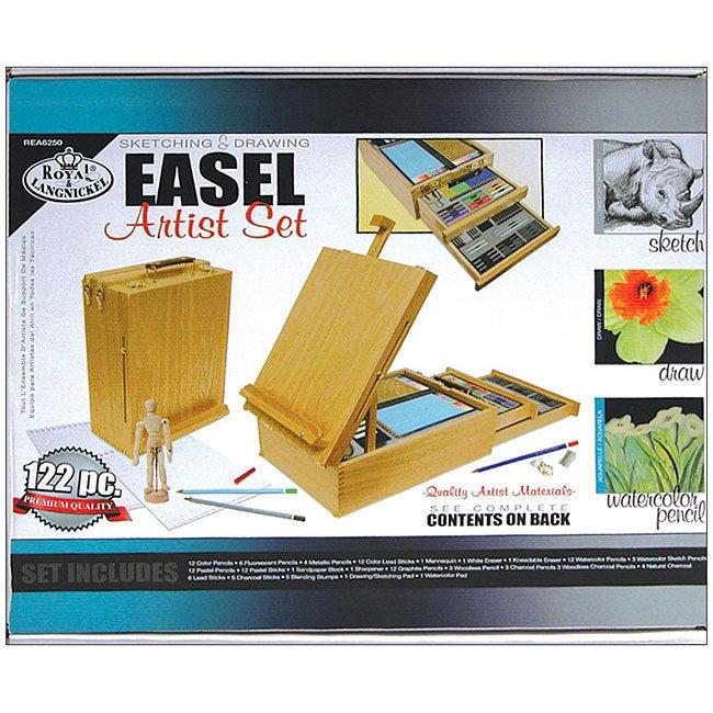 Royal & Langnickel 122-piece Desk Easel and Artist Kit Se...