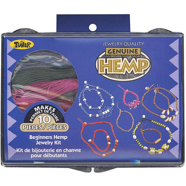 Toner Plastics Beginners Colored Hemp Jewelry Kit with Beads
