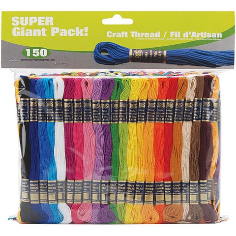 Iris Super Giant Value Pack Craft Thread Skeins (Pack of 150)