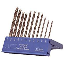 TG Tools KIK HS Brad Point 11-piece Drill Bit Set
