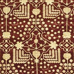 Indo Kazak Hand-knotted Maroon Wool Rug (9' x 12')