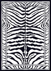 Contemporary Zebra Area Rug (5'2 x 7'4) - Thumbnail 1
