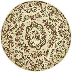Safavieh Handmade Classic Ivory Wool Rug (6' Round)