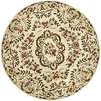 Safavieh Handmade Classic Ivory Wool Rug - 6' Round