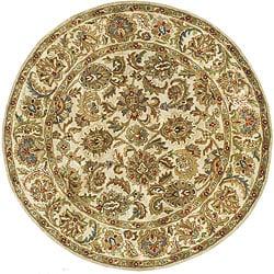 Safavieh Handmade Classic Ivory Wool Rug (5' Round)