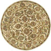 Safavieh Handmade Classic Ivory Wool Rug (6' Round) - 6' Round