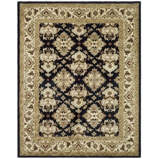 Safavieh Handmade Heritage Timeless Traditional Black/ Ivory Wool Rug (9'6 x 13'6)
