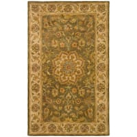 Safavieh Handmade Heritage Timeless Traditional Taupe/ Ivory Wool Rug (2' x 3')
