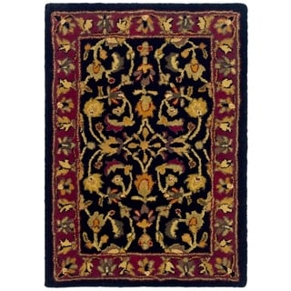Safavieh Handmade Heritage Timeless Traditional Black/ Red Wool Rug (2' x 3')