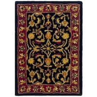 Safavieh Handmade Heritage Timeless Traditional Black/ Red Wool Rug - 2' x 3'