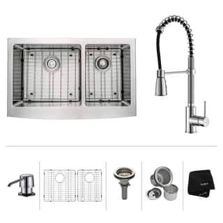 Farmhouse Sink & Faucet Sets For Less | Overstock.com