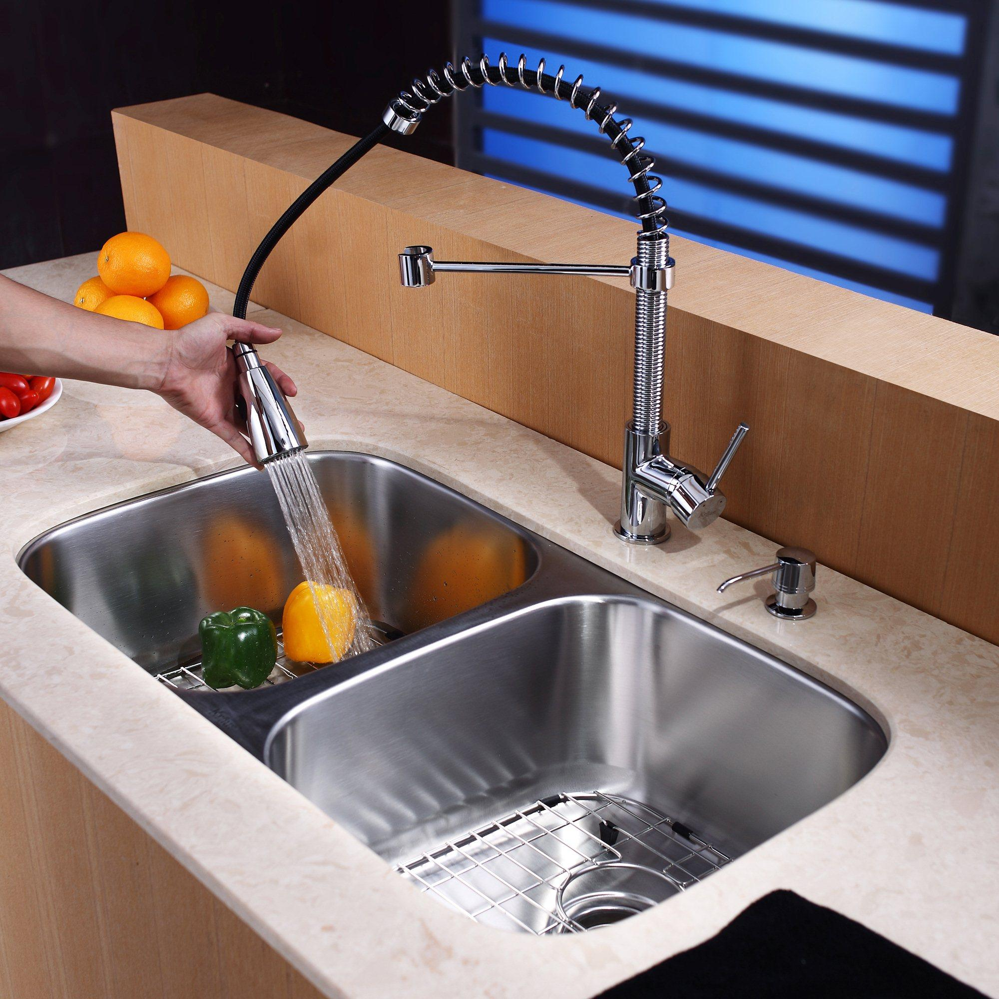 Kraus 105 X 16 Undermount Kitchen Sink With Faucet And Soap