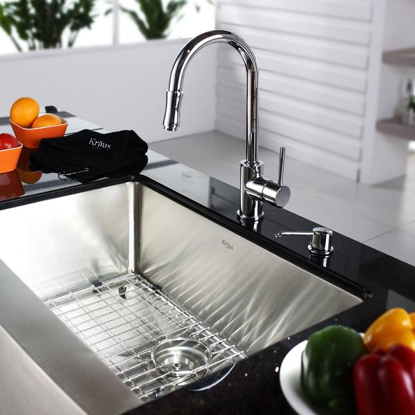 Kraus Brand Review : KRAUS 36 Inch Farmhouse Single Bowl Stainless Steel Kitchen Sink with ...