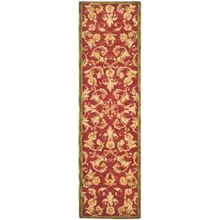 Safavieh Handmade Flora Burgundy Wool Runner (2'3 x 12')