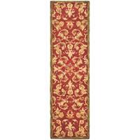 "Safavieh Handmade Anatolia Oriental Traditional Burgundy Hand-spun Wool Runner Rug - 2'3"" x 10'"