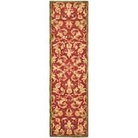 Safavieh Handmade Anatolia Oriental Traditional Burgundy Hand-spun Wool Runner (2'3 x 8')