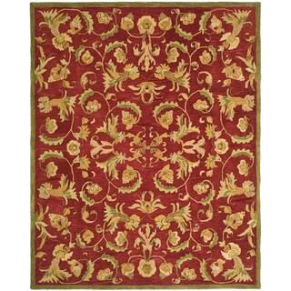 Safavieh Handmade Anatolia Oriental Traditional Burgundy Hand-spun Wool Rug (5' x 8')