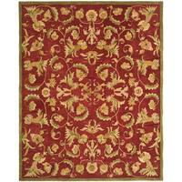 Safavieh Handmade Anatolia Oriental Traditional Burgundy Hand-spun Wool Rug - 5' x 8'