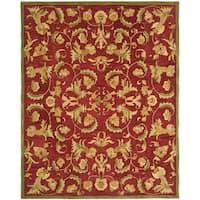 Safavieh Handmade Anatolia Oriental Traditional Burgundy Hand-spun Wool Rug - 9' x 12'