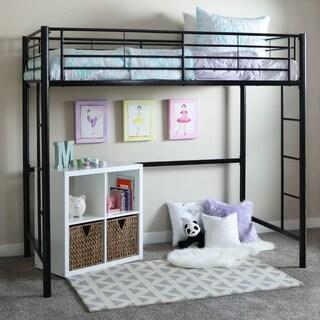Black Metal Twin Loft Bed