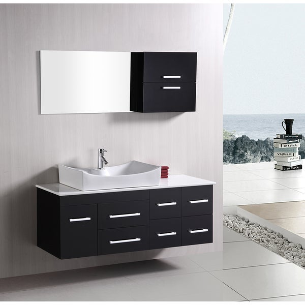 Design Element Springfield Contemporary Wallmount Bathroom Vanity - Vanity set for bathroom on sale for bathroom decor ideas