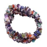 Handmade Multi-gemstone 'Rainbow Girl' Beaded Bracelet (India)