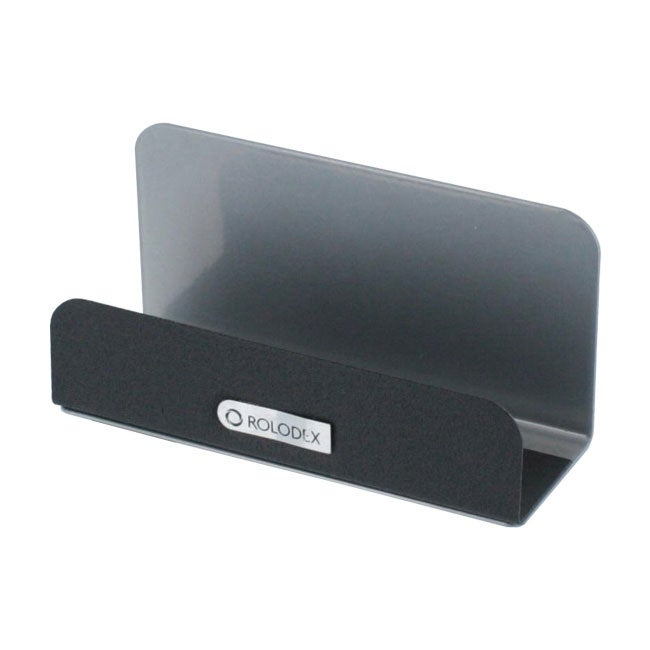 Rolodex Metal Workspace Business Card Holder Case Of 8
